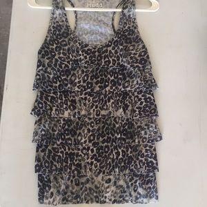 Cheetah tank top size large